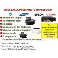 Reparación de Impresoras y Fotocopiadoras en CONOCOTO